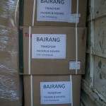 Bajrang Packers And Movers Hard Cardboard Packing With Labels
