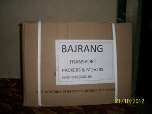 Bajrang Packers And Movers Packaging And Labeling